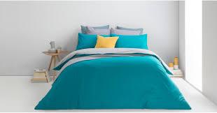 solar 100 cotton bed set king elephant azure blue uk bed linen beds made com