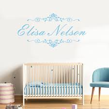 Baby Name Wall Designs Asapfor Personalized Baby Name Wall Decal Vinyl Sticker Home