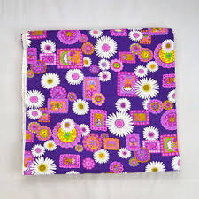 Vtg Purple Floral Boho Hippie Quilted Insulated Sewing Fabric ... & Image is loading Vtg-Purple-Floral-Boho-Hippie-Quilted-Insulated-Sewing- Adamdwight.com