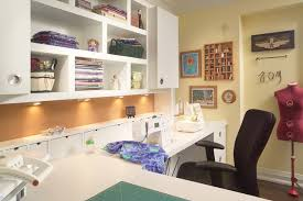 richmond hill project sewing room Contemporary Home fice