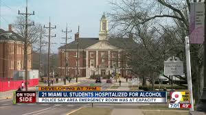 Emergency Students Er Police Services Taxed Hospital Miami University Filled Drunken
