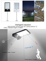 Aluminum Pole Solar Street Light 36 48 Led Solar Light Three Modes Black White Waterproof Lamp Bulb New Spot Li Security Lamp Fo