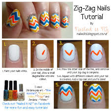 Nail art for short nails #3 - Zig-Zag nails