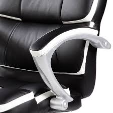 white luxury office chair. Luxury Designer Computer Office Chair - Black With White Accents I