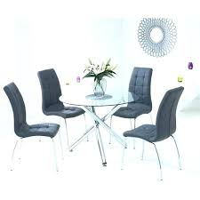 dining table chairs upholstered and unique creative glass black with small