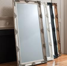 abbey full length leaner mirror silver