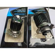 Đèn Led pha H4 gương cầu Mini Cos Vàng Pha Trắng gắn như ZIN ko chế mọi  loại xe máy giá cạnh tranh