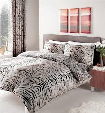 double duvet set curtains tiger animal print bedding set matching curtains