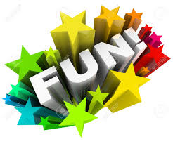 stock photo the word fun in a burst of colorful stars representing an amusing entertainment way to spend your time on something recreational or other