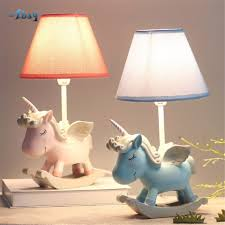Creative Cartoon Resin Unicorn Table Lamps For Living Room Children