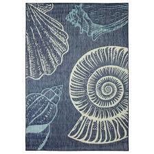hampton bay blue seas flat woven weave 5 ft x 7 ft indoor