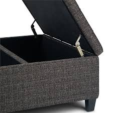 simpli home harrison tufted storage
