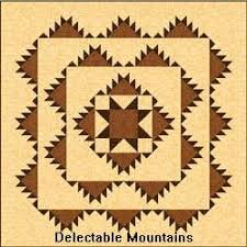 Free Pioneer Quilt Patterns With Their History & Delectable Mountains with a star pattern Adamdwight.com