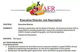 Caer Food Shelf | Executive Director Job Description