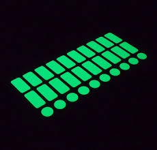 Luminous (glow-in-the-dark) light-switch finder stickers