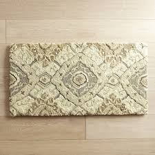 Memory Foam Kitchen Floor Mat Cloud Stepar Diamond Tan Memory Foam Rug Pier 1 Imports