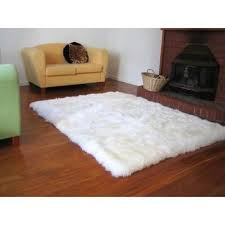 faux fur sheepskin area rug ivory 3 6 x 5 6 com ping the best