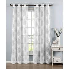 curtain design window elements sheer penelope cotton blend burnout sheer 96 in l grommet curtain