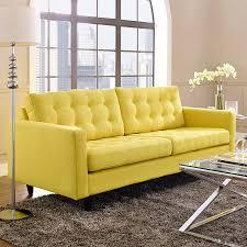 ... Enfield Contemporary Yellow Sofa