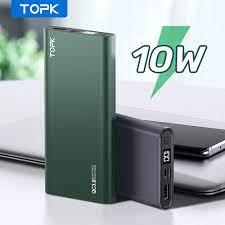 Sạc Dự Phòng TOPK I1006 10000mAh Cho iPhone Huawei Samsung Xiaomi Oppo Vivo  Realme Hai Cổng Dung Lượng Có Màn Hình Điện Tử giá cạnh tranh