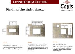 creative ideas what size rug for living room lofty proper rug size how
