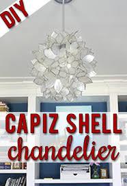 round capiz shell chandelier