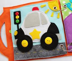 custom quiet book page car single page to by roseinbloomcreations