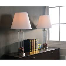 design craft clear glass fillable table lamp set of 2 1 of 5free