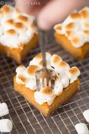 sweet potato pie with marshmallows. Exellent Pie Sweet Potato Pie Bars With Toasted Marshmallows Throughout With Marshmallows