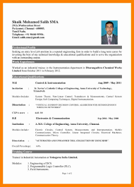 Mba Fresher Resume Format Doc Resume Template Ideas