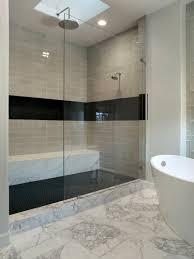 black tile floors bathroom
