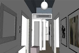 hallway finally. A Vertical Wall Portion Facing The Wardrobe In Hallway Along With Ceiling Portion, And Finally Front Of Entrance Door