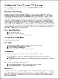 best nursing resume. residential care worker cv sample ...
