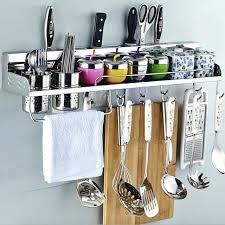 kitchen utensil rack brushed nickel utensil rack kitchen utensil within kitchen utensil holder wall mounted