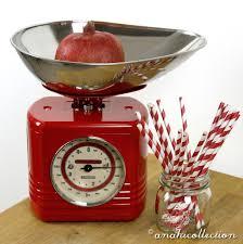 Red Retro Kitchen Retro Kitchen Scales Anahi Collection