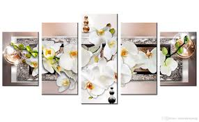 2018 canvas painting white orchid flowers wall art paintingmetal frame background wall art for home decor with wooden framed gifts from meiledipainting  on white orchid framed wall art with 2018 canvas painting white orchid flowers wall art paintingmetal