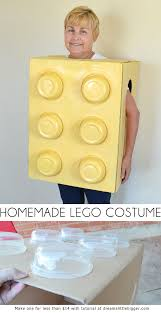 this homemade lego costume is so simple and inexpensive to make great for kids and