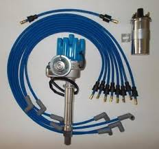 small block chevy electronic ignition 45k coil blue spark plug image is loading small block chevy electronic ignition 45k coil blue