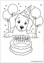 Since we love kids and babies so much we will provide you with free and printable coloring pages! Happy Birthday Puppy Coloring Pages Puppy Coloring Pages Free Printable Coloring Pages Online