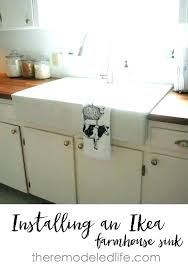 farmers sink a kitchen installing an farmhouse in existing cabinet of ikea sinks review