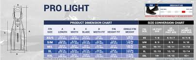 Atomic Fins Size Chart Cressi Pro Light Fins Your Lightweight Powerful Diving Fin