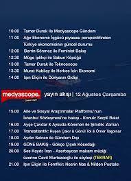 """Medyascope auf Twitter: """"12 Ağustos Çarşamba yayın akışı… """""""