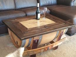 ... Coffee Table, Fascinating Teak Rectangle Industrial Wood Wine Barrel Coffee  Table Idea To Decorating Living ...