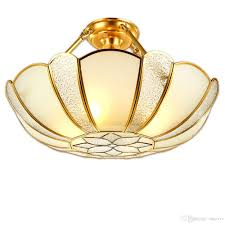 2018 indian traditional flower copper restaurant ceiling light glass lampshade living room gallery ceiling light dining room light from ouovo