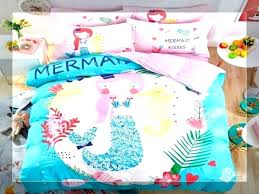 little mermaid bed set sheets twin comforter the bedding girls size bedspreads baby