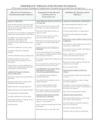 Employee Performance Review Examples Of Evaluations Phrases Sample ...