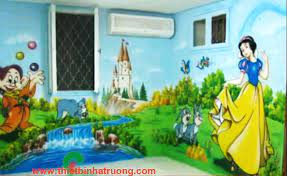 Vẽ tranh tường theo chủ đề truyện cổ tích