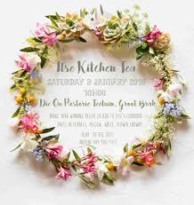 Kitchen Tea Invites Floral Wedding Invites