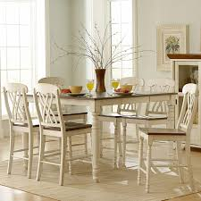 antique white kitchen dining set. weston home ohana 7 piece square counter height set - antique white \u0026 cherry | hayneedle kitchen dining