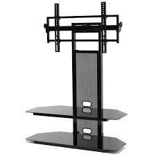 view a larger image of the transdeco black glass tv stand with integrated flat panel mount